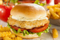 Breaded Fish Sandwich With Tartar Sauce Stock Photography - 38930522
