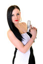 Woman With Gun Royalty Free Stock Photography - 38937927
