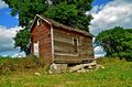 Granary On Crumbling Foundation Stock Images - 38938054
