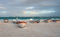 Sunset On The Tulum Beach, Mexico Stock Image - 38940141