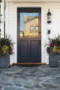 Blue Door Of Home In Daytime Royalty Free Stock Photo - 38940365