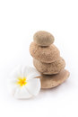 The Balance Stones With Frangipani Flower Is Zen Stock Photo - 38941010