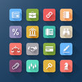 Colour Flat Icons For Business And Website Design. Royalty Free Stock Images - 38943069