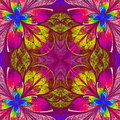 Multicolor Fractal In Stained Glass Window Style. Stock Photography - 38944482