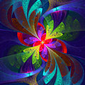 Multicolor Beautiful Fractal Flower. Royalty Free Stock Image - 38945676