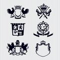 Vector Royal Crest Medallion Shield Crown Stock Photography - 38948572