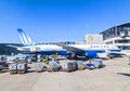 United Aircraft Standing At Terminal 1 In Frankfurt Royalty Free Stock Photography - 38956647