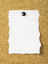 Note Paper On A Cork Board. Stock Image - 38958221
