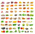 Vegetable And Spices Isolated On White Royalty Free Stock Image - 38964066