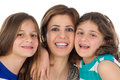 Family Shot Of Mother And Daughters Hugging Stock Images - 38970984