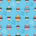 Vector Seamless Background With Easter Eggs. Royalty Free Stock Photography - 38975257
