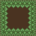 Vector Frame Made of Palm Leaves. Stock Photography - 38975442