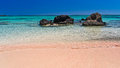 Pink Sand Of The Elafonisi Beach, Island Of Crete Royalty Free Stock Images - 38988099