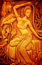 Thai Style Art Carving Wood Royalty Free Stock Image - 39004776