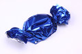 Sweet In Blue Foil Wrapping Royalty Free Stock Images - 39007879