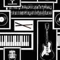 Seamless Pattern Of Musical Attributes Stock Images - 39015284