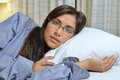 Sexy Hispanic Woman Laying In Bed Royalty Free Stock Photography - 39020807