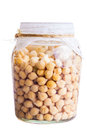 Soaked Sprouting ChickPeas Royalty Free Stock Images - 39023739