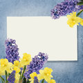 Holiday Background With Spring Flowers  And Empty  Place For You Royalty Free Stock Photography - 39025507