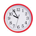Five To Ten On A Round Clock Face Stock Photography - 39028272
