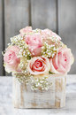 Bouquet Of Pink Roses Stock Photography - 39033362