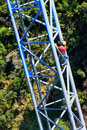 Workers Climing Supporting Pole, Sky Bridge Royalty Free Stock Photos - 39036718