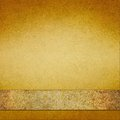 Vintage Gold Background With Brown Gold Ribbon Stock Photo - 39037970