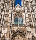 Details Medieval Cathedral Of Our Lady In Antwerp Royalty Free Stock Image - 39043856