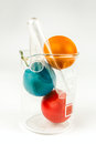 Easter Eggs In Lab Glass Stock Photography - 39044992