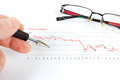 Men Analyzing Business Graph With Glasses Royalty Free Stock Images - 39087519