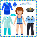 Paper Doll With A Set Of Professional Clothings. Stock Photos - 39088073
