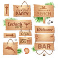 Set Of Wooden Signboards. Summer Royalty Free Stock Photo - 39090505