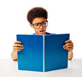 African American Teenager Shocked Reading Stock Photography - 39093562