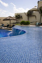 Blue Tile Curved Pool Stock Photos - 3913763