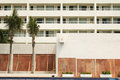 Evacuated Hotel With Boarded Windows Royalty Free Stock Image - 3916036