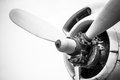 Engine Of An Old Aircraft Stock Photography - 39102872
