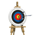 Three Arrows On An Archery Target Royalty Free Stock Images - 39102969