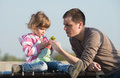Daddy And Young Daughter Royalty Free Stock Images - 39105079