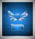 Abstraction Blue Background With  Wings. Royalty Free Stock Photo - 39106835