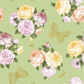 Seamless Vector Floral Vintage Pattern Stock Photo - 39107900