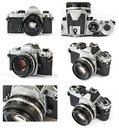 Classic Film SLR Camera Collage Royalty Free Stock Photos - 39108968