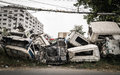 Crushed Truck Stock Images - 39110094