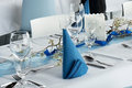 Table Set For Dinner Party Royalty Free Stock Photo - 39113805