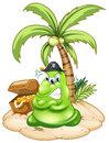 Angry Pirate Monster In Island With Treasure Royalty Free Stock Image - 39116886