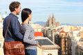 Barcelona - Romantic Couple Looking At City View Stock Image - 39117031