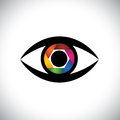 Vector Icon Eyes As Camera With Shutter Stock Image - 39118971