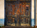 Detail Of Old Weathered Wooden Door Entrance Royalty Free Stock Images - 39122109