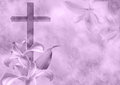 Christian Cross And Lily Flower Stock Photo - 39123660