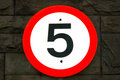 5mph (5 Miles Per Hour) Road Sign Royalty Free Stock Image - 39127226