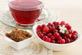 Cranberry Juice And Brown Sugar Stock Image - 39129761